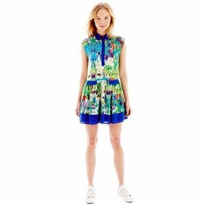 Nanette Lepore L❤️AMOUR Watercolor Shirt Dress